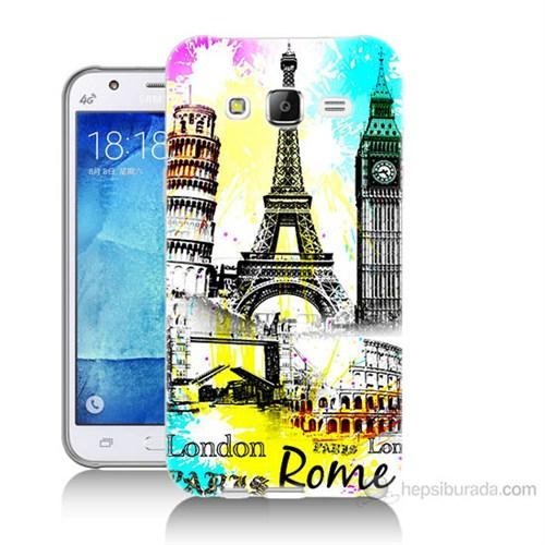 Teknomeg Samsung Galaxy J5 Kapak Kılıf Avrupa Baskılı Silikon