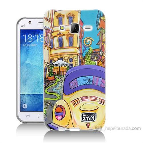 Teknomeg Samsung Galaxy J5 Kapak Kılıf Sarı Wolsvagen Baskılı Silikon