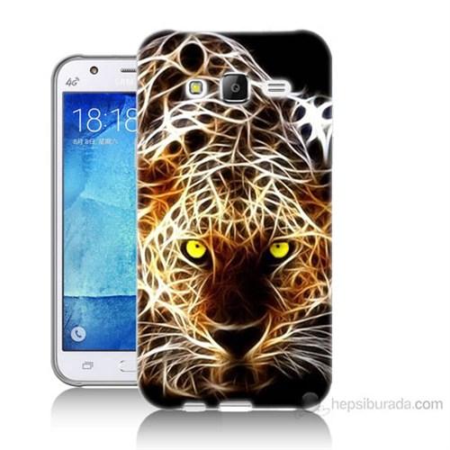 Teknomeg Samsung Galaxy J5 Kapak Kılıf Yanan Aslan Baskılı Silikon