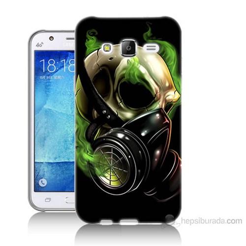 Teknomeg Samsung Galaxy J5 Kapak Kılıf Ölüm Maskesi Baskılı Silikon