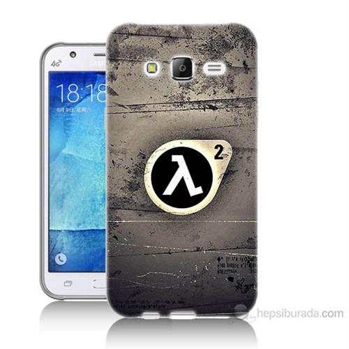 Teknomeg Samsung Galaxy J5 Kapak Kılıf Half Life Baskılı Silikon