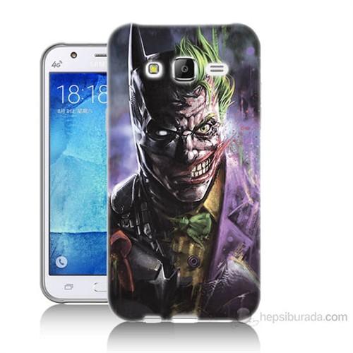 Teknomeg Samsung Galaxy J5 Kapak Kılıf Joker Vs Batman Baskılı Silikon