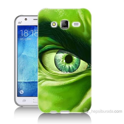 Teknomeg Samsung Galaxy J5 Kapak Kılıf Hulk Yeşil Dev Baskılı Silikon