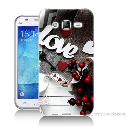 Teknomeg Samsung Galaxy J5 Kapak Kılıf Love Baskılı Silikon