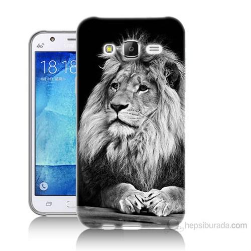 Teknomeg Samsung Galaxy J5 Kapak Kılıf Asil Aslan Baskılı Silikon