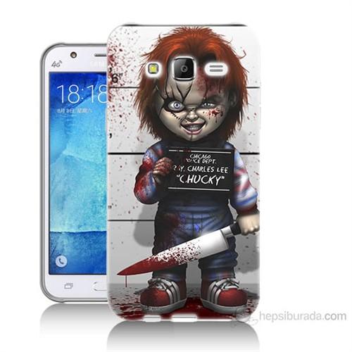 Teknomeg Samsung Galaxy J5 Kapak Kılıf Chaki Baskılı Silikon