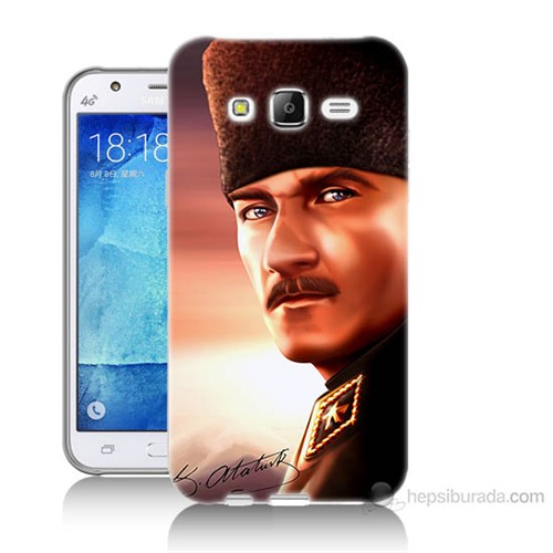 Teknomeg Samsung Galaxy J5 Kapak Kılıf Mustafa Kemal Baskılı Silikon