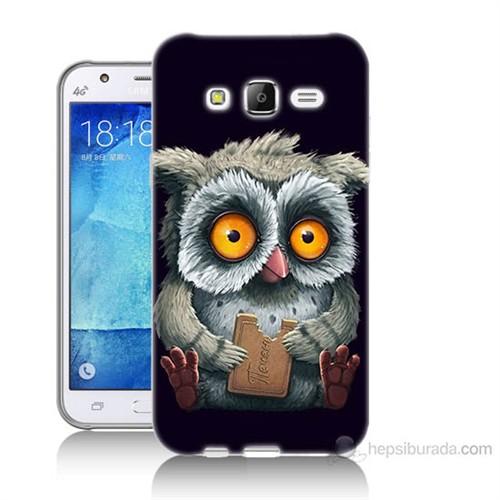 Teknomeg Samsung Galaxy J5 Kapak Kılıf Yavru Baykuş Baskılı Silikon