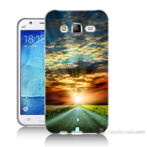 Teknomeg Samsung Galaxy J5 Kapak Kılıf Yol Baskılı Silikon