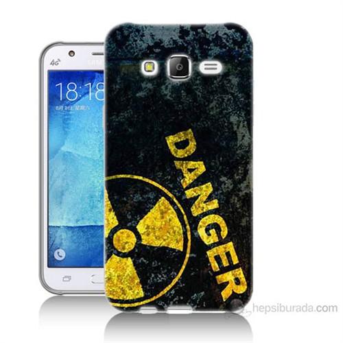 Teknomeg Samsung Galaxy J5 Kapak Kılıf Tehlikeli Baskılı Silikon