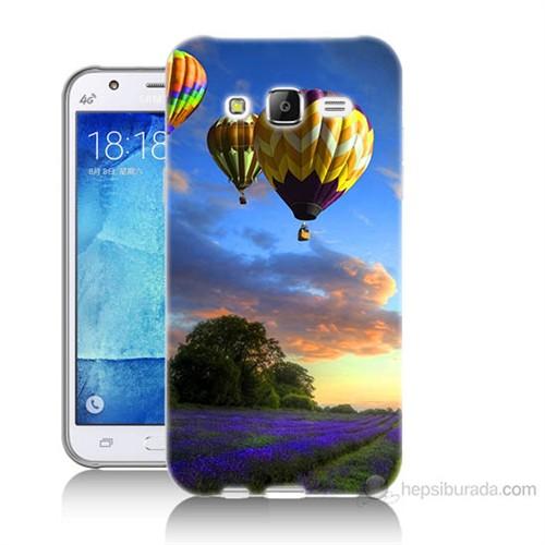 Teknomeg Samsung Galaxy J5 Kapak Kılıf Uçan Balon Baskılı Silikon