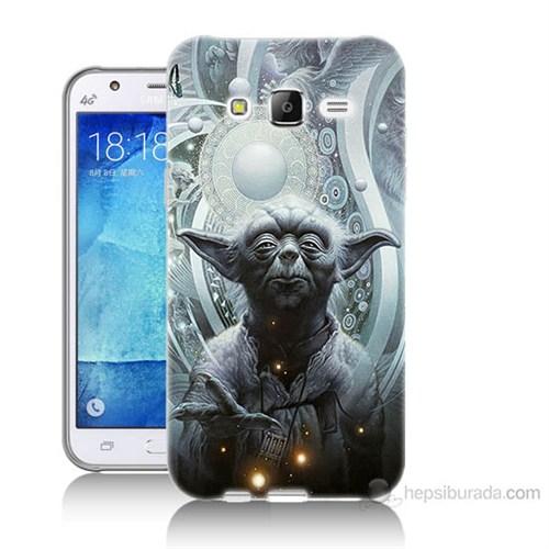 Teknomeg Samsung Galaxy J5 Kapak Kılıf Güç Uyanıyor Yoda Baskılı Silikon