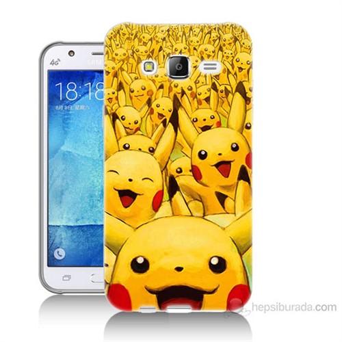 Teknomeg Samsung Galaxy J5 Kapak Kılıf Pikaçu Baskılı Silikon