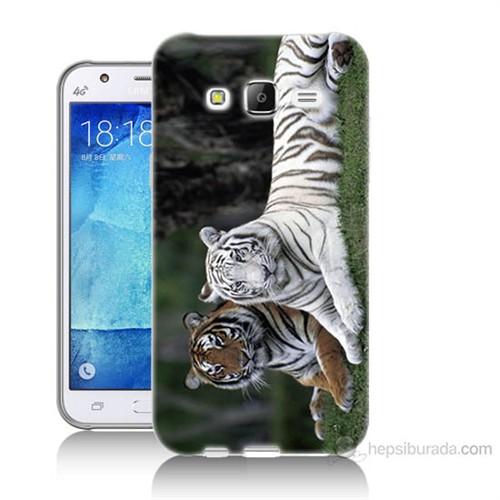 Teknomeg Samsung Galaxy J5 Kapak Kılıf Aslanlar Baskılı Silikon