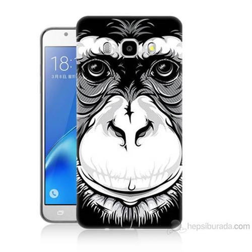 Teknomeg Samsung Galaxy J5 2016 Kılıf Kapak Maymun Baskılı Silikon