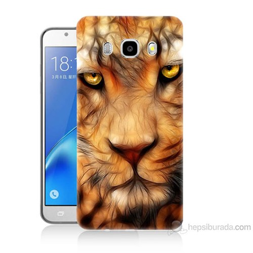 Teknomeg Samsung Galaxy J5 2016 Kapak Kılıf Aslan Baskılı Silikon