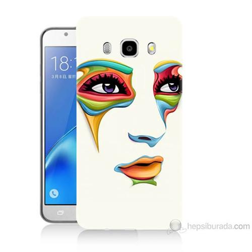 Teknomeg Samsung Galaxy J5 2016 Kapak Kılıf Face Baskılı Silikon