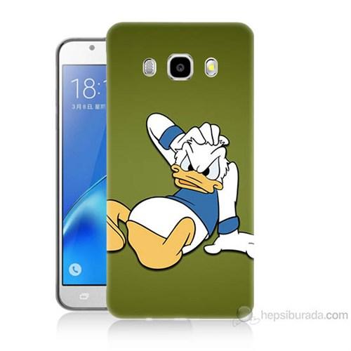 Teknomeg Samsung Galaxy J5 2016 Kapak Kılıf Donald Dock Baskılı Silikon