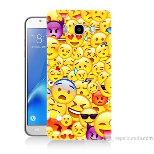 Teknomeg Samsung Galaxy J5 2016 Kapak Kılıf Emoje Baskılı Silikon