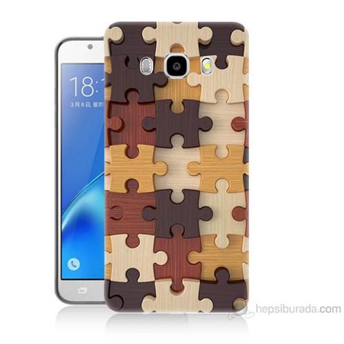 Teknomeg Samsung Galaxy J5 2016 Kapak Kılıf Puzzle Baskılı Silikon