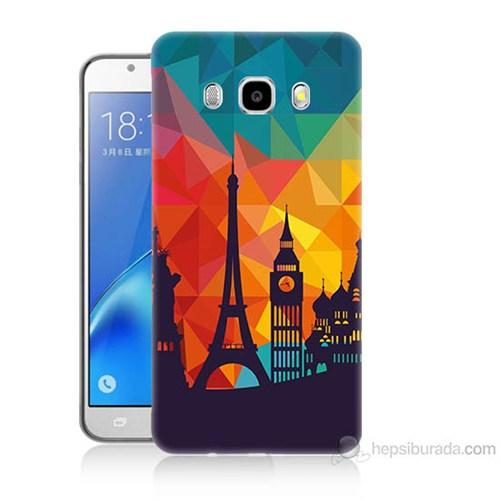 Teknomeg Samsung Galaxy J5 2016 Kapak Kılıf Görkemli Yapılar Baskılı Silikon