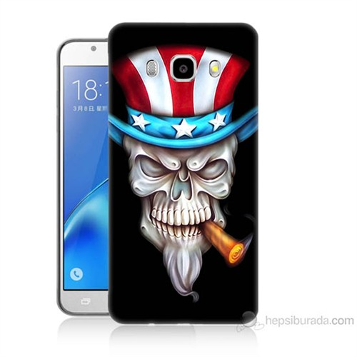 Teknomeg Samsung Galaxy J5 2016 Kapak Kılıf Sam Amca Baskılı Silikon