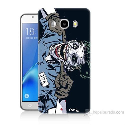 Teknomeg Samsung Galaxy J5 2016 Kapak Kılıf Joe Joker Baskılı Silikon