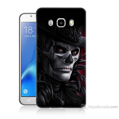 Teknomeg Samsung Galaxy J5 2016 Kapak Kılıf Kuru Kafa Baskılı Silikon