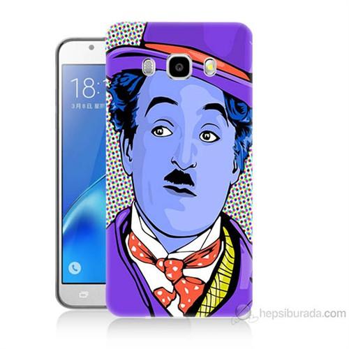 Teknomeg Samsung Galaxy J5 2016 Kapak Kılıf Charlie Chaplin Baskılı Silikon