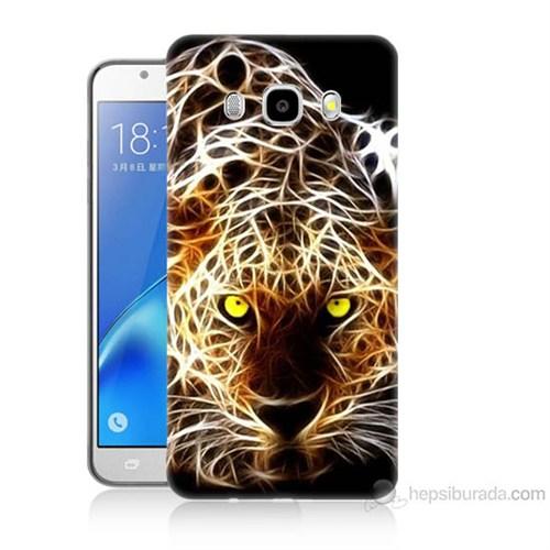 Teknomeg Samsung Galaxy J5 2016 Kapak Kılıf Yanan Aslan Baskılı Silikon