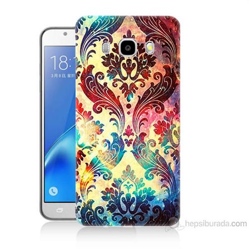 Teknomeg Samsung Galaxy J5 2016 Kapak Kılıf Çiçek Motifi Baskılı Silikon