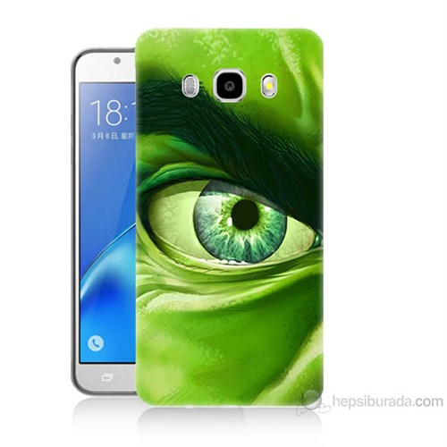 Teknomeg Samsung Galaxy J5 2016 Kapak Kılıf Hulk Yeşil Dev Baskılı Silikon