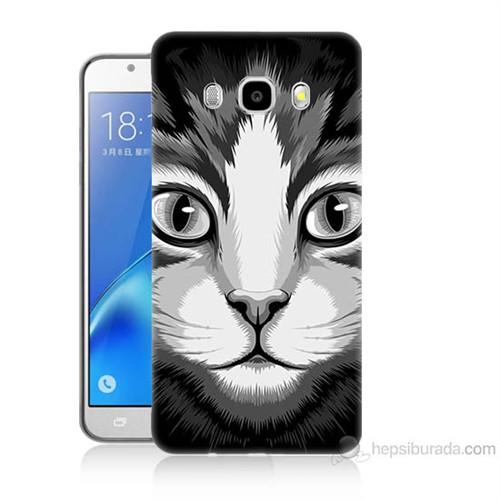 Teknomeg Samsung Galaxy J5 2016 Kapak Kılıf Kedicik Baskılı Silikon
