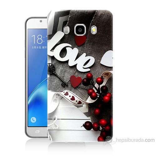 Teknomeg Samsung Galaxy J5 2016 Kapak Kılıf Love Baskılı Silikon