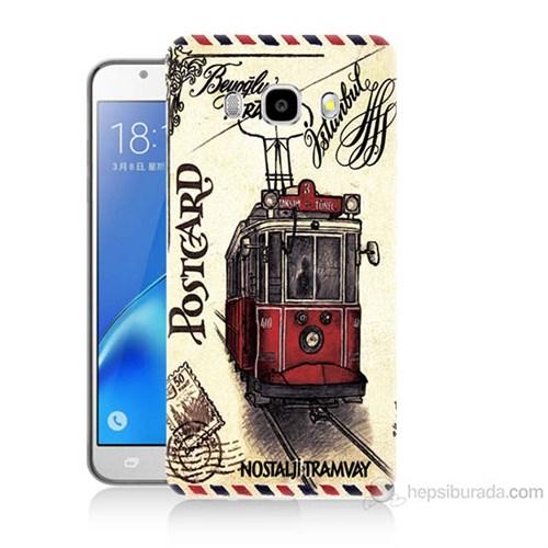 Teknomeg Samsung Galaxy J5 2016 Kapak Kılıf Taksim Tramvay Baskılı Silikon