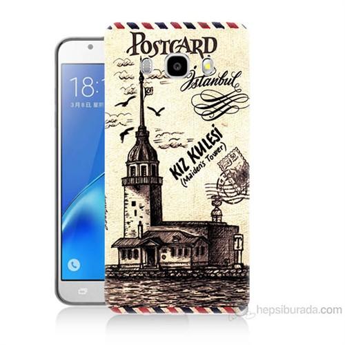 Teknomeg Samsung Galaxy J5 2016 Kapak Kılıf Kız Kulesi Baskılı Silikon