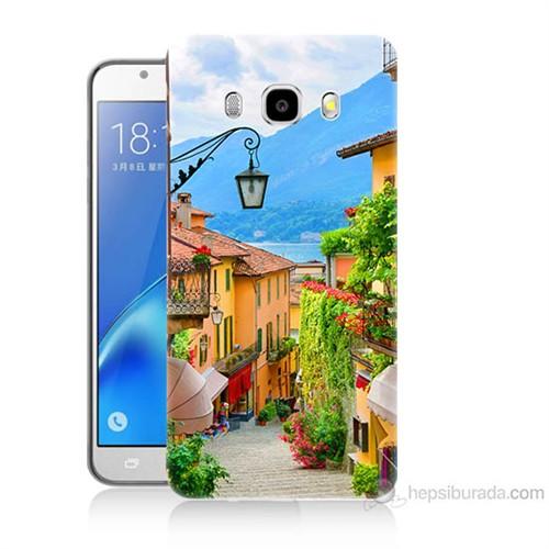 Teknomeg Samsung Galaxy J5 2016 Kapak Kılıf Balkon Manzara Baskılı Silikon