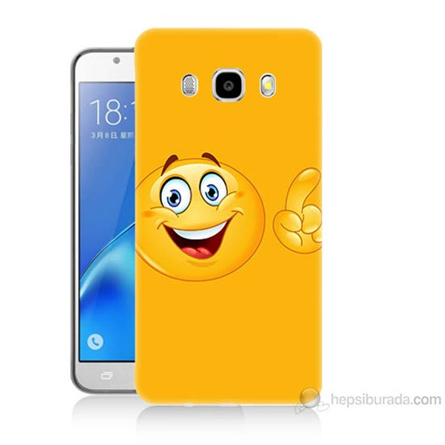 Teknomeg Samsung Galaxy J5 2016 Kapak Kılıf Emoji Baskılı Silikon