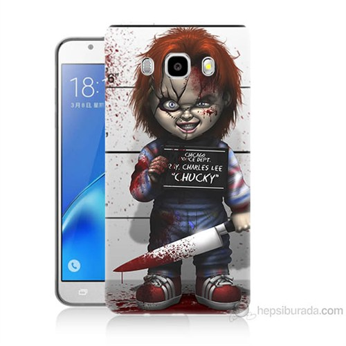 Teknomeg Samsung Galaxy J5 2016 Kapak Kılıf Chaki Baskılı Silikon