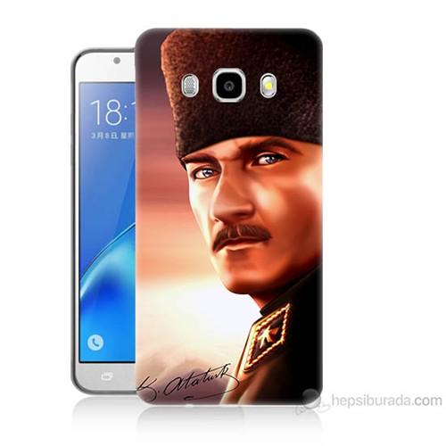 Teknomeg Samsung Galaxy J5 2016 Kapak Kılıf Mustafa Kemal Baskılı Silikon