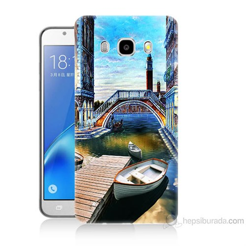Teknomeg Samsung Galaxy J5 2016 Kapak Kılıf Tekneler Tablo Baskılı Silikon