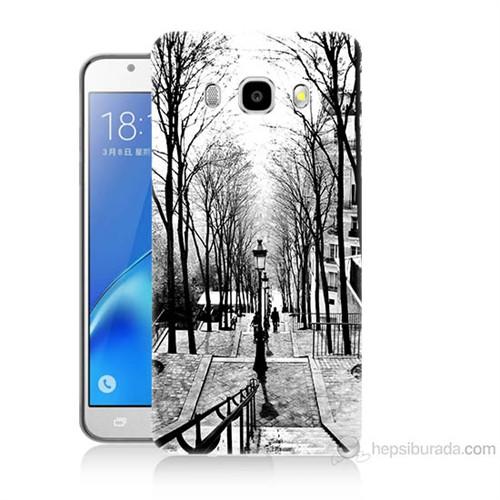 Teknomeg Samsung Galaxy J5 2016 Kapak Kılıf Siyah Beyaz Baskılı Silikon