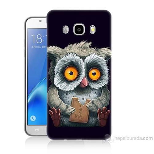 Teknomeg Samsung Galaxy J5 2016 Kapak Kılıf Yavru Baykuş Baskılı Silikon