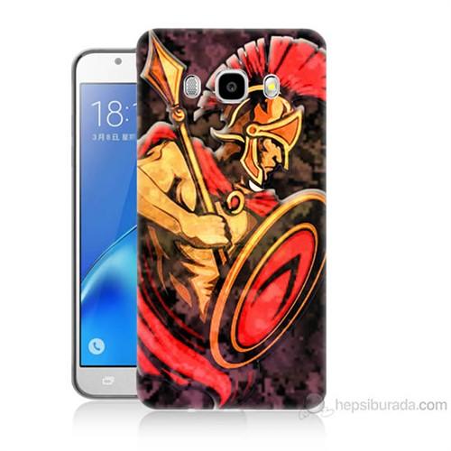 Teknomeg Samsung Galaxy J5 2016 Kapak Kılıf Gladyatör Baskılı Silikon