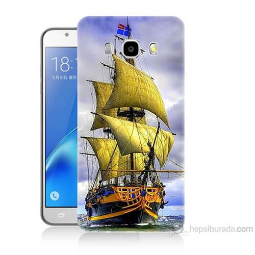 Teknomeg Samsung Galaxy J5 2016 Kapak Kılıf Gemi Baskılı Silikon