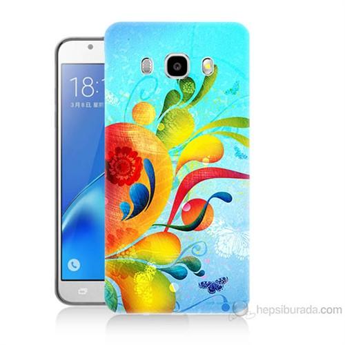 Teknomeg Samsung Galaxy J5 2016 Kapak Kılıf Renkli Desen Baskılı Silikon