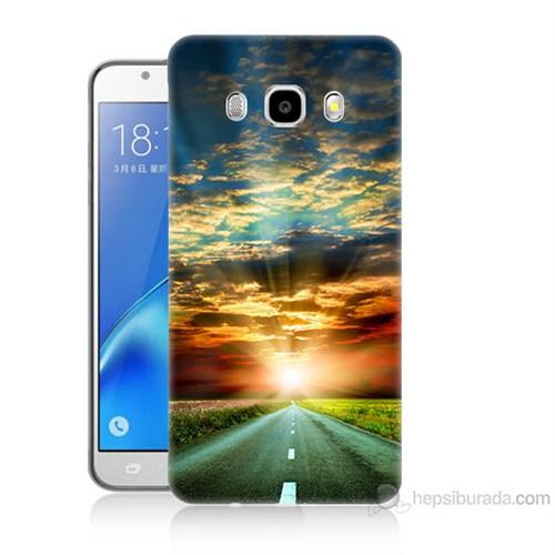 Teknomeg Samsung Galaxy J5 2016 Kapak Kılıf Yol Baskılı Silikon