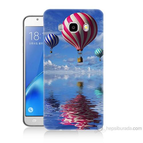 Teknomeg Samsung Galaxy J5 2016 Kapak Kılıf Renkli Balonlar Baskılı Silikon