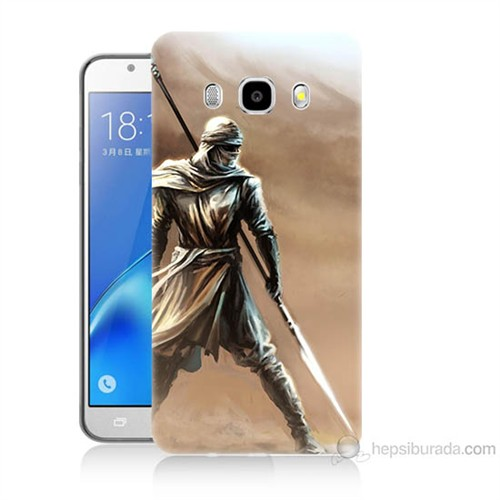 Teknomeg Samsung Galaxy J5 2016 Kapak Kılıf Knight Baskılı Silikon