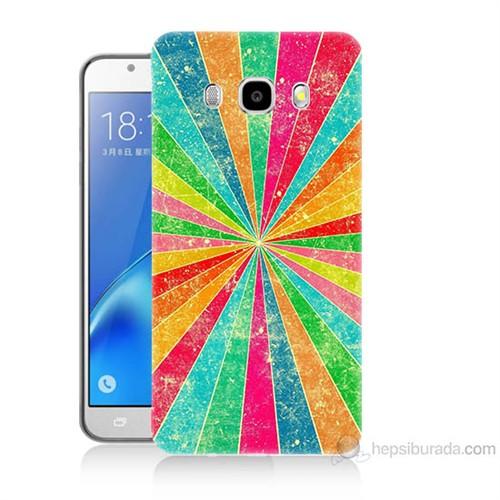 Teknomeg Samsung Galaxy J5 2016 Kapak Kılıf Renk Efekti Baskılı Silikon